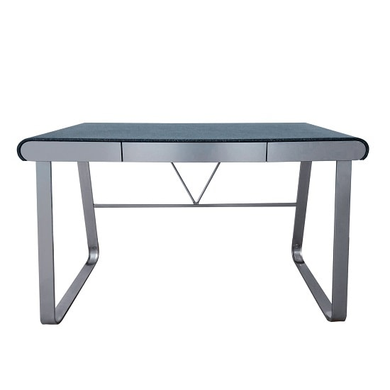 Waris Computer Desk In Stone Finish With Metal Legs