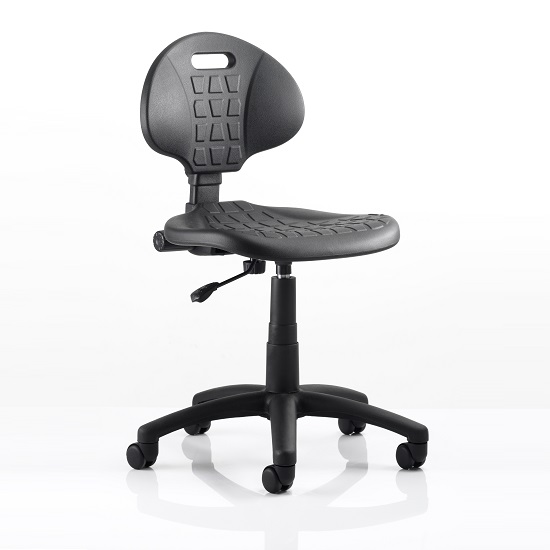 Winston Home Office Operator Chair In Black With Castors