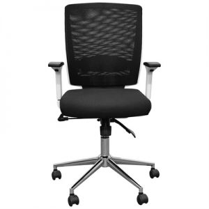 Alton Fabric Office Chair, White Back