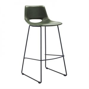 Amarco PU Leather & Steel Counter Stool, Green