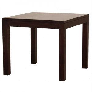 Amsterdam Solid Mahogany Timber 90cm Square Dining Table - Chocolate