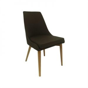 Archie Fabric Dining Chair - Brown