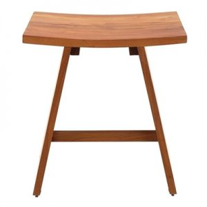 Archie Solid Teak Timber Shower Stool