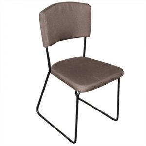Arezzo Fabric Dining Chair, Brown