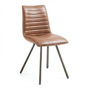 Aristida PU Leather Dining Chair, Tan
