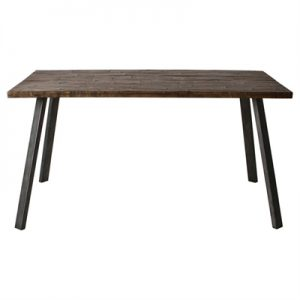Camden Rustic Acacia Timber & Metal Dining Table, 150cm
