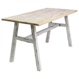 Corrie Commercial Grade Ash Timber & Steel Dining Table, 140cm