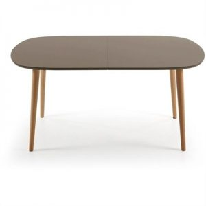 Dallington 160-260cm Extendable Oval Dining Table - Brown/Natural