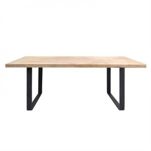 Darton Reclaimed Timber & Steel Dining Table, 200cm
