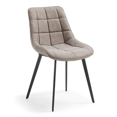Hadsten PU Leather Dining Chair, Taupe