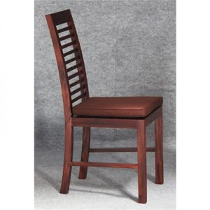 Holland Solid Mahogany Timber Dining Chair with Cushion Seat - Mahogany