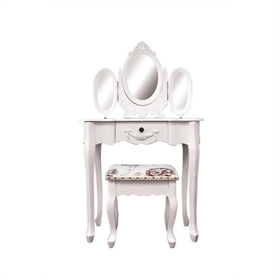 Ivry Dressing Table with Cachan Dressing Stool
