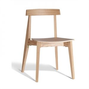 Izu Commercial Grade Solid Timber Dining Chair, Natural