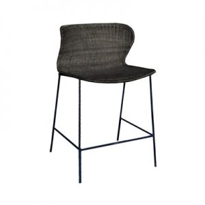 Kensi Rattan Counter Stool, Black