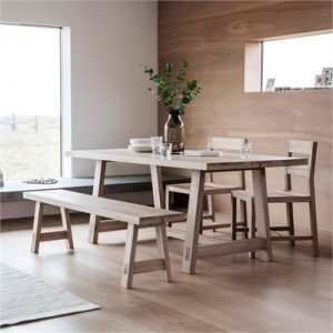 Kielder Oak Timber Dining Table, 185cm