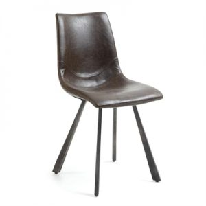 Kilburnie PU Leather Dining Chair, Chocolate