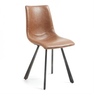 Kilburnie PU Leather Dining Chair, Tan