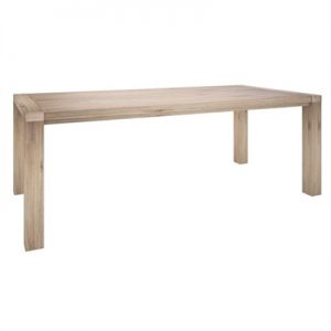 Laccadive 180cm Acacia Timber Dining Table in Ash Finish -