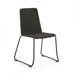 Merilyn Rope & Steel Indoor / Outdoor Dining Chair, Charcoal