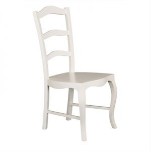 Mervent Solid Mahogany Timber Dining Chair - White