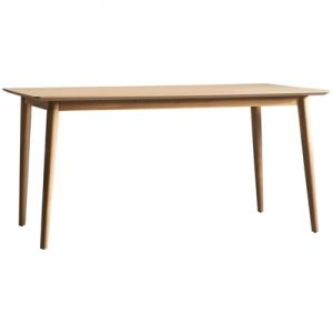 Milano Oak Timber Dining Table, 160cm