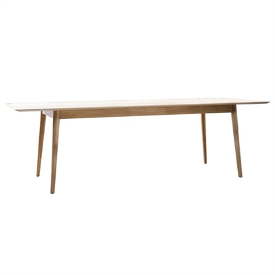 Milano Oak Timber Extendable Dining Table, 200-250cm
