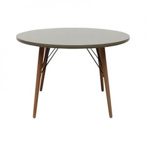 Milton Wooden Round Dining Table, 120cm