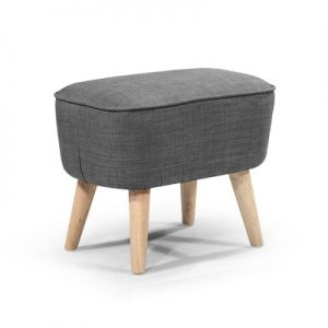 Molena Commercial Grade Fabric Foot Stool, Dark Grey