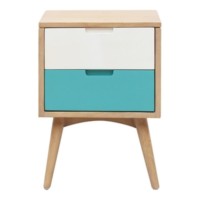Molton Hand Crafted Mango Wood 2 Drawer Nightstand
