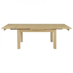 Moselia Tasmanian Oak Timber Extensible Dining Table, 150-250cm, Natural-I