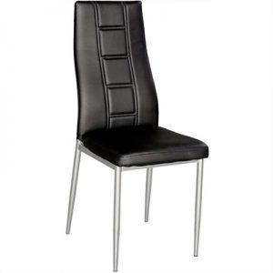 Neptune Faux Leather Upholstered Dining Chair - Black
