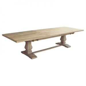 Oatley Mango Wood Extendable Trestle Dining Table, 260-350cm