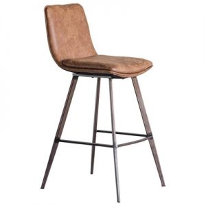 Palmer Faux Leather Counter Stool, Tan