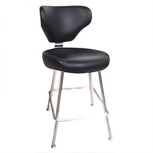Reno Commercial Grade Gaming Stool, Black