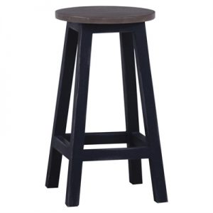 Rosson Mahogany Timber Counter Stool, Sorel Brown / Weathered Black