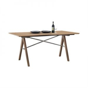 Royce American Oak Timber Dining Table, 167cm