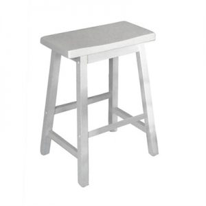 Sander Timber Counter Stool, White
