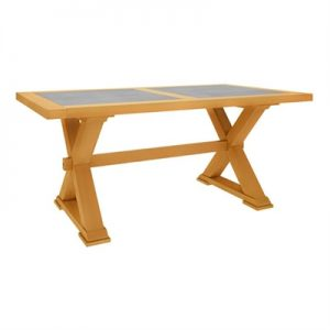 Sefton Pine Timber Trestle Dining Table, 210cm