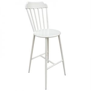 Set of 2 Windsor Commercial Grade Aluminium Indoor / Outdoor Counter Stools, Rustic White