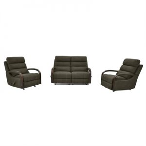 Seward 2+1+1 Seater Rhino Fabric Recliner Sofa & Rocking Chair Set, Clay