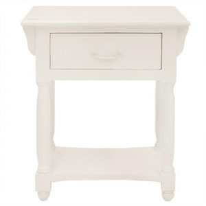 Souvigny Hand Crafted Mahogany Nightstand - Distressed White