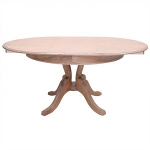Talence Hand Crafted Mahogany 120-170cm Extension Dining Table - Weathered Oak