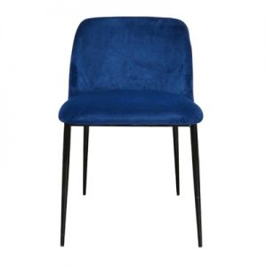 Trecella Velvet Fabric Dining Chair, Blue
