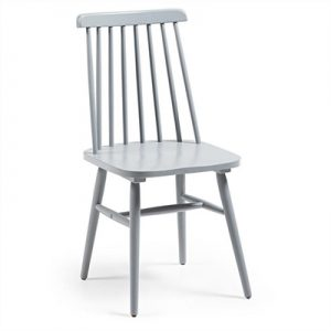 Tudor Solid Rubberwood Timber Dining Chairs, Light Grey
