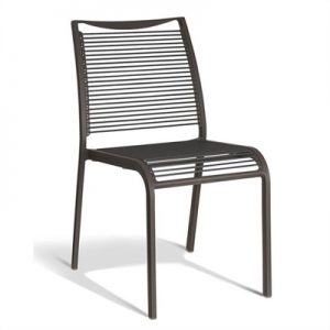 Waikiki Commercial Grade Aluminum Indoor/Outdoor Dining Chair, Grey