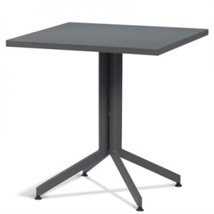 Waikiki Commercial Grade Foldable Indoor/Outdoor Square Dining Table, 80cm, Grey