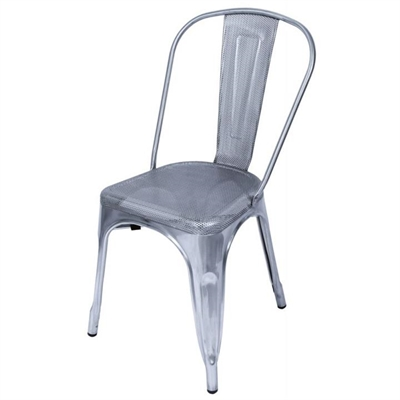 Weimar Perforated Metal Dining Chair - Chrome