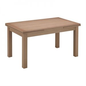 Yaron American Oak Timber Extendable Dining Table, 150-250cm