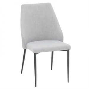 Zoe Fabric Upholstered Dining Chair - Light Grey
