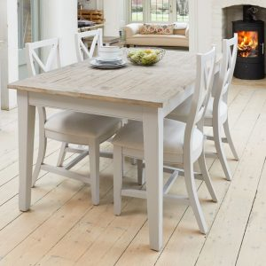 Baumhaus Signature Grey Dining Set - Extending with 4 Chairs
